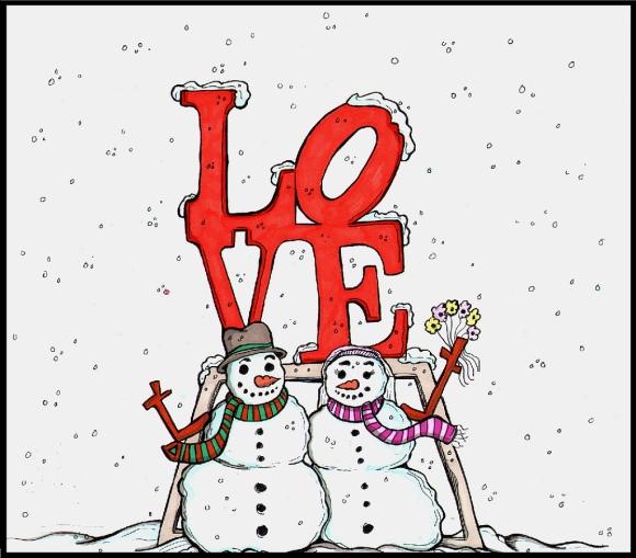 Hello! Snowman Love Park